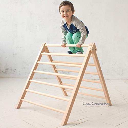 Pikler Step Triangle by LanaCrocheting. Climbing ladder for kids, foldable triangle. Children's Wooden Climbing Structure. Montessori Toddler Natural Development.