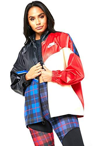 Nike Damen Sportswear NSW Weste, Schwarz/Universitätsrot/Musselin/Weiß, L