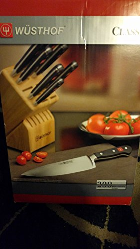 Wusthof Classic Knife Block Set with Gourmet Steak Knives, 14 piece