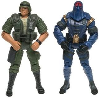 GI JOE vs. Cobra Deset Duke (Green Uniform) vs. Cobra Commander (Blue Uniform) Action Figure Set