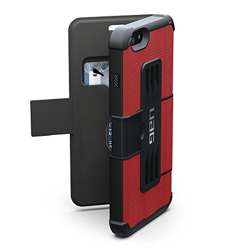 """URBAN ARMOR GEAR UAG-IPH6/6SPLSF-RED-VP Housse portefeuille Folio pour iPhone 6 Plus / 6S Plus (5.5 """"Display) Rouge"""