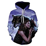 Men S Autumn and Winter Models 3D Printing Hoodie Autumn Men and Women Cool Wolf Fashion Casual Hoodie-We322_L