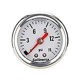 Solimeta 1-1/2' Liquid Filled Fuel Pressure...