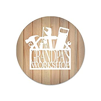 Metal Tin Signs Grandpa s Workshop Dad Life Papa Bear Father s Day Tools Pappy Waterproof Colorfast Room Decor Wall Art for Bathrooms Office Living Room Bedroom