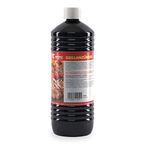1 L Grillanzünder flüssig für Holzkohle, Grillbrikett, Kamin, Grill, Feuerstellen uvm. - Mit Kindersicherheitsverschluss