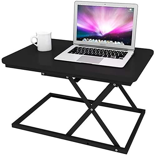 Maoviwq Mesa ajustable de pie plegable para computadora portátil, mesa de ordenador ajustable, soporte de mesa de trabajo, mesa de levantamiento, convertidor de escritorio