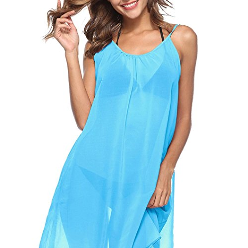 Alikeey bikini voor dames, chiffon, werkkleding, bikini, chiffon, voor dames, kleding, zonwering, strand, essentiële vakantiekleding
