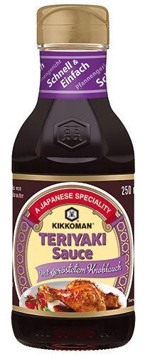 6x Kikkoman - Teriyaki-Sauce mit geröstetem Knoblauch - 250ml