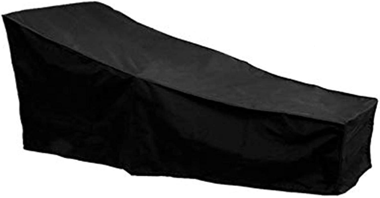 Qing MEI Outdoor Sun Lounger Cover Furniture Dust Cover Black Waterproof A++