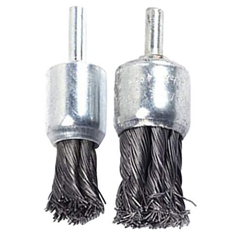 2 Stücke Hochleistung Drahtbürste Für Stabschleifer Oder Bohrer, Durchmesser 25 + 20mm, Stahl Unterstützung