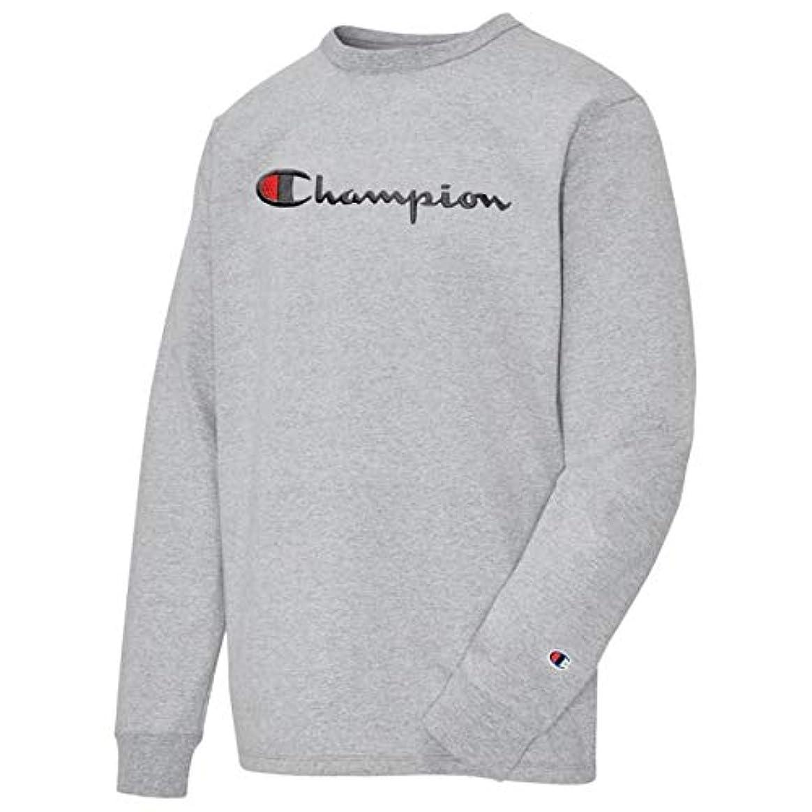 かき混ぜるもう一度引き出し(チャンピオン)Champion Heritage Script Embroidery L/S T-Shirt メンズ Tシャツ [並行輸入品]