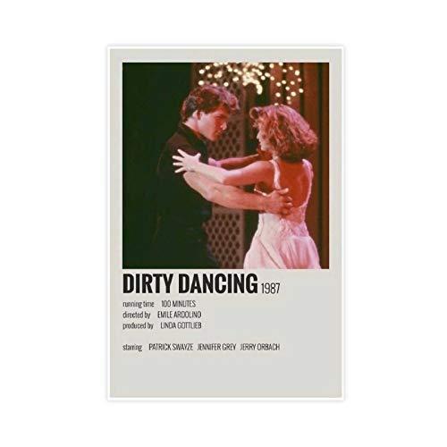 Dirty Dance Poster vintage années 90 pour chambre, décoration murale, 50 × 75 cm, sans cadre, style 1