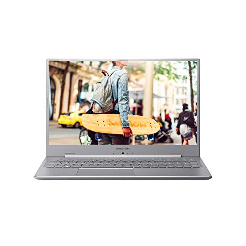MEDION E17201 43,9 cm (17,3 Zoll) Full HD Notebook (Intel Pentium Silver N5000, 8GB DDR4 RAM, 256GB M.2 SSD, 1TB HDD, Akku Schnellladefunktion, Windows 10 Home)
