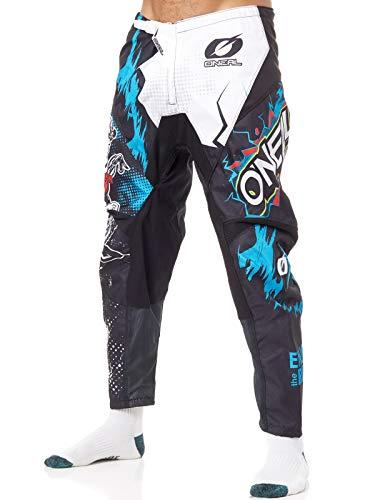 O'NEAL | Motocross-Hose | MX Enduro | außergewöhnliche Bewegungsfreiheit, Vollständig gefüttert, Polster aus Gummi für zusätzlichen Schutz | Pants Element Villain | Erwachsene | Weiß | Größe 36