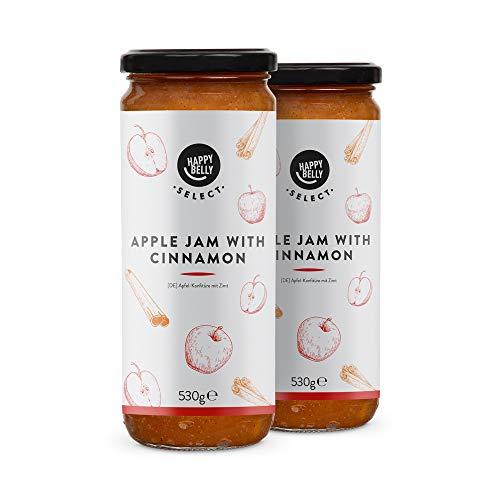 Marca Amazon - Happy Belly Select Mermelada con 75% de manzana y canela, 2 unidades de 530g