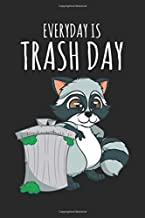Notebook: Raccoon Trash Panda Lover Gift - Everyday Is Trash Day Black Lined College Ruled Journal - Writing Diary 120 Pages