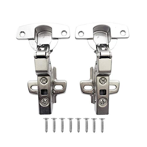 Hettich Sensys 110 Grad Innenanschlag Standardscharnier für Küchenschrank Schrank Einliegend Scharnier mit Integrierter Dämpfung Langsam Schließen Pufferscharnier mit Schließautomatik 2 Stück