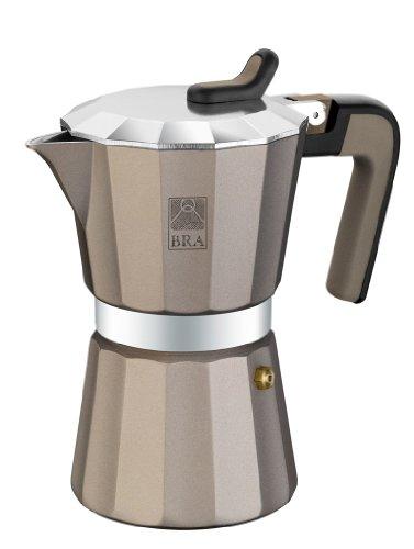 BRA Titanium - Cafetera, Capacidad 6 Tazas, Aluminio