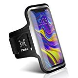 TRIBE Running Phone Holder Armband. iPhone & Galaxy Cell Phone Sports Arm Bands for Women, Men, Runners, Jogging, Walking, Exercise & Gym Workout. Fits All Smartphones. Adjustable Strap, CC/Key Pocket