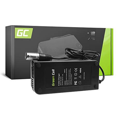 Green Cell® Cargador (29.4V 4A 117W) para Whistler Xplorer Yamaha Zündapp E-Bike Bicicleta Eléctrica Li-Ion Batería (Conector Cannon)