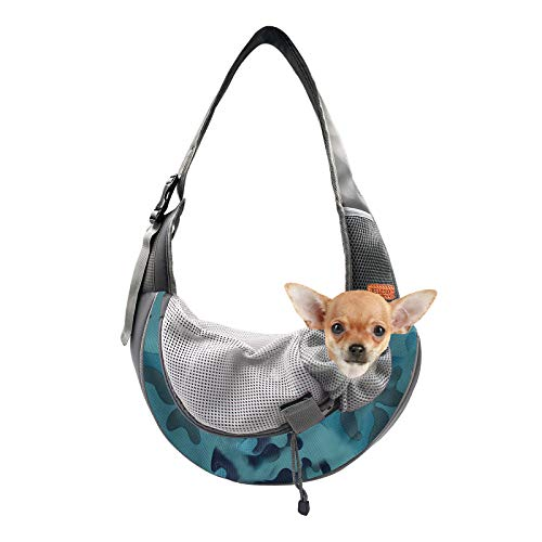 BELPRO Pet Sling for Small Dogs, Breathable Mesh Traveling Puppy Cat Carrier Sling Bag with...