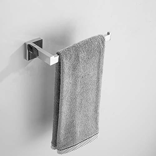 SongL Soporte de toalla de mano, barra de toalla de acero inoxidable Sus304, hardware de la suspensión de toalla para baño, cocina, gabinete, cuarto de lavado, polaco cromado terminado y montado en la