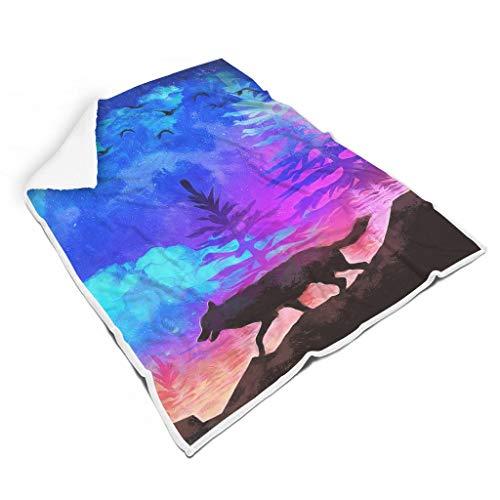 Rcerirt Animal Oil Painting Night Weich Bunt weiche Decke für Bett Mikrofaser für Baby Eleganter Stil White 130x150cm