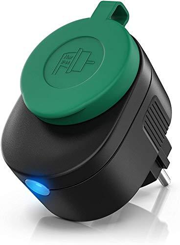 Bearware - Enchufe inteligente exterior - Toma WiFi inalámbrica - Monitor de energía - Temporizador - Control de voz o via app Smart Life Apple iOS Android - Compatible con Alexa Google Home IFTTT