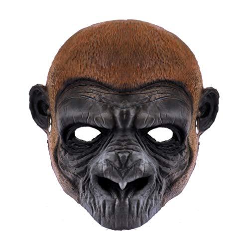 STOBOK Halloween Masken PU Schaum Affen Maske Vollgesichtsmaske