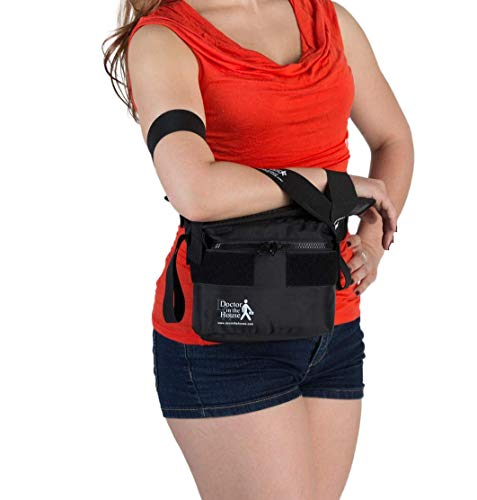 Arm Sling - EZ Sling by Doctor in the House, No Neck Strap Shoulder Abduction & Immobilizer, Fractures, Stroke, Rotator Cuff/Shoulder Injury, Surgery, Comfortable-Easy Men/Women Right/Left