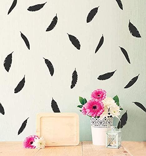 Pegatina de la pared de la pluma DIY Peel and Stick Art For Kids Room Decoración para el hogar Decalaciones de pared Papel pintado Baby Room Poster Decoración de la pared Calcomanías Pegatinas