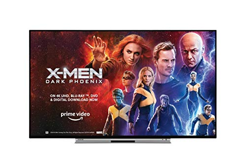Toshiba 49UL5A63DB 49-Inch Smart 4K Ultra-HD HDR LED WiFi TV with Freeview Play - Black/Silver (2019 Model)
