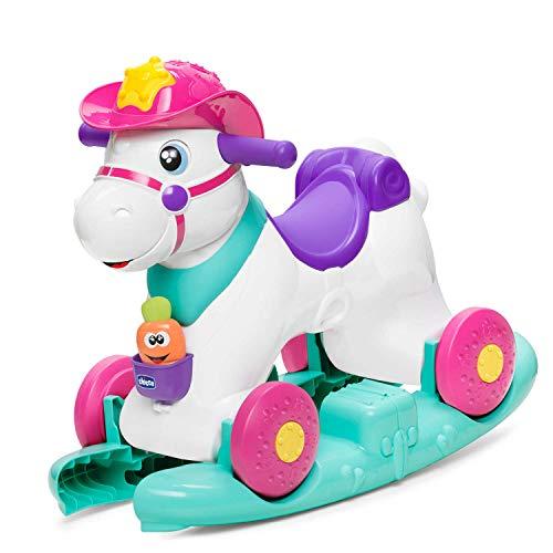 Chicco Cavallo a Dondolo per Bambini Miss Rodeo, Gioco Educativo e Interattivo, Cavallo Cavalcabile Bambino con Effetti Sonori, Max 20 kg, Giochi per Bambini 1-3 Anni