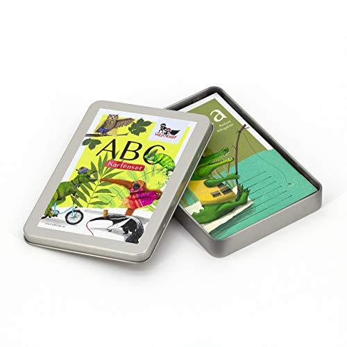 Will & Ruby ABC-Kartenset, A6, Geschenk zur Einschulung, Tieralphabet, spielerisch Lesen und Schreiben Lernen, Alphabet, Karten, Set, Tiere, Schule