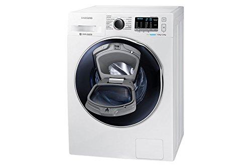 Samsung Lavasecadora AddWash Serie 5 8/6 kg WD80K54100W - Lavadora-secadora (Carga frontal, Independiente, Blanco, Botones, Giratorio, LED, 58 L)