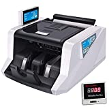 XHMCDZ Bill Contatore con UV/MG Counterfeit Detection, Money Machine Counting con Display a LED, Professionale Bancomat Counting