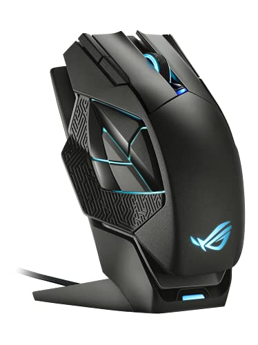 ASUS ROG Spatha X Wireless Gaming Mouse (Magnetic Charging Stand, 12 Programmable Buttons, 19,000...