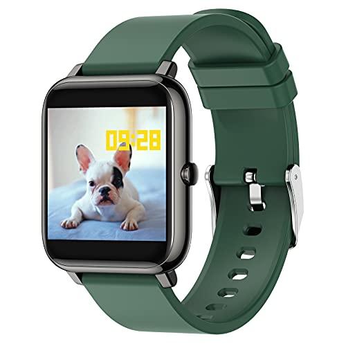 BNMY Smart Watch Reloj Inteligente con Oxígeno Sanguíneo Presión Arterial Frecuencia Cardíaca, Pulsera Actividad Impermeable IP67 para Hombre Mujer para iOS Android,Verde