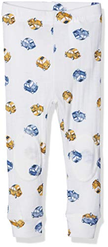 Name It Nmmwang Wool Needle Longjohn Noos Pantalon, Blanc (Snow White), 95 (Taille Fabricant: 80) Bébé garçon