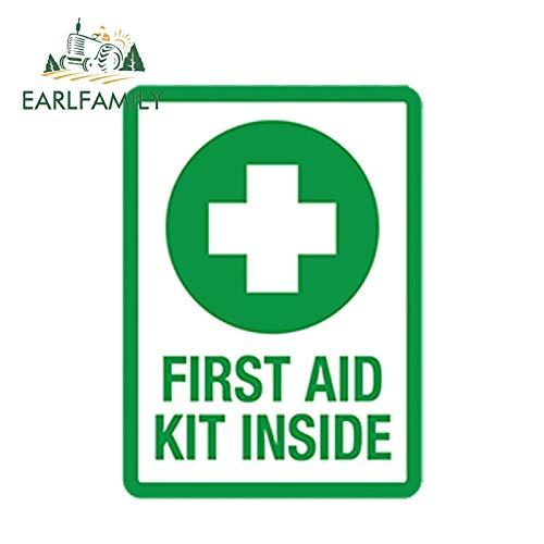 FAFPAY Sticker de Carro Kit de Primeros Auxilios de Estilo de Coche de 13 cm x 10 cm, calcomanía de Vinilo Interior de Rescate de Emergencia, Pegatinas Autoadhesivas Impermeables para Coche