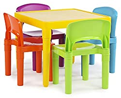 Best Table And Chairs For Toddler dsc_1464 From Tot Tutors Comes A Bold And Colorful Plastic Table And Four Chairs Click Here To Check The Price On Amazon That Will Delight The Eyes Of Your