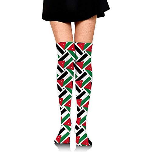 Crew Sokken Jordan Vlag Weave Compressie Sokken Boot Voorraad Jurk Lange Sokken Vrouwen Knie Hoge Sokken Hardlopen Cosplay Mode Kleurrijke Comfortabele Casual Party Zacht