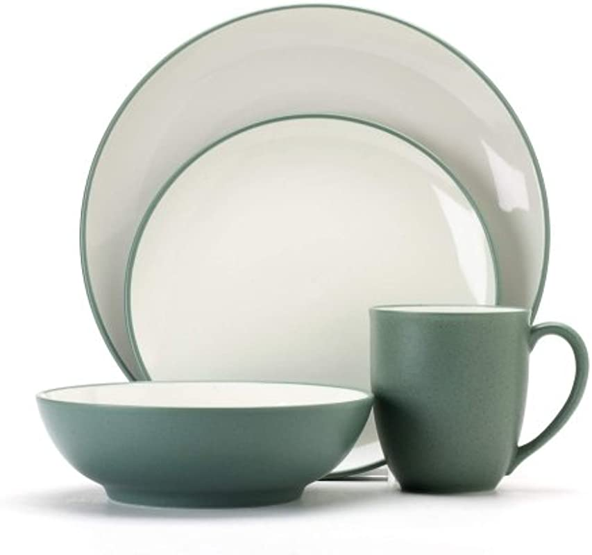 Noritake Colorwave Green 16 Piece Dinnerware Set Service For 4