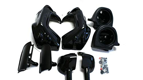 Vented Lower Fairing w 6.5' Speaker Boxes Pods for 2004-2013 Harley Touring (LVF-010)