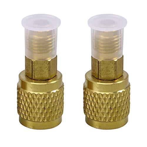 Lioobo - Adaptador de aire acondicionado, acoplador rápido, 2 unidades, R410, adaptador de conversión (dorado)