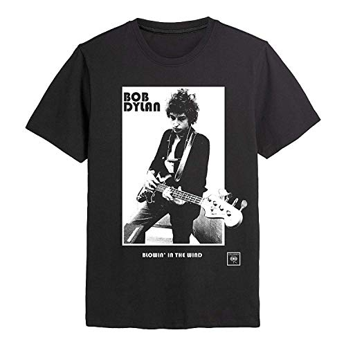 Bob Dylan - Blowin' in The Wind - Offizielles Herren-T-Shirt Gr. S, Schwarz