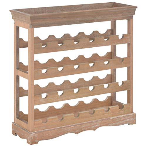 Lasamot Gabinete del Vino Botellero Estantería de Vino Estante de Vino para bodegas, restaurantes y trasteros MDF marrón 70 x 22,5 x 70,5 cm