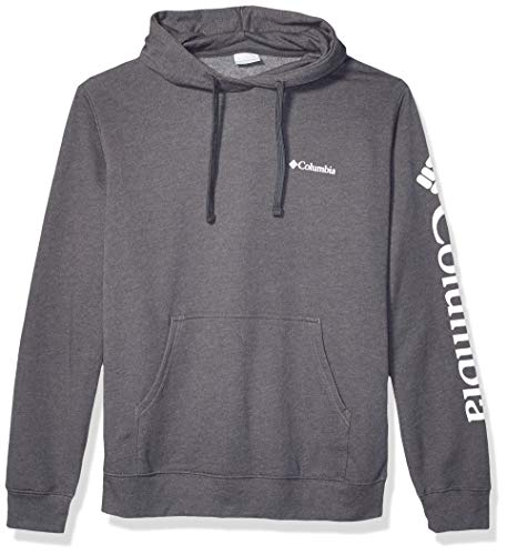 Columbia Men's Viewmont II Sleeve Graphic Hoodie, Charcoal Heather, Medium