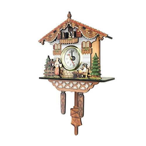 Reloj De Pared Decorativo De Reloj De Cuco De Madera Con Mov