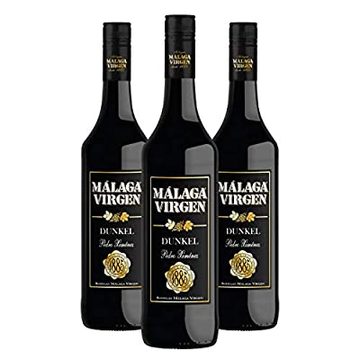 "Malaga Virgen Dunkel 75cl - 3 bottles Pack - Sweet liquor wine D.O.""Malaga"""